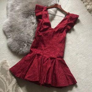 Free People elegant red dress